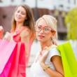 güzel kız alışverişe çıktı — Stok fotoğraf