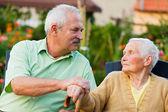 Senior People in Nursing Home — Stock Photo
