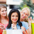 Stock Photo: Happy Women Love Shopping Together