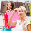 Stock Photo: Beautiful Girlfriends Gone Shopping