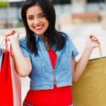 Happy Girl Shopping — Stock Photo #30352209