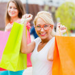 Stock Photo: Women Love Shopping
