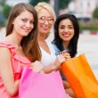 Feeling Good After Big Shopping With The Girls — Stock Photo #30352275