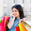 Stock Photo: shopaholic woman