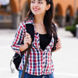 Happy student with backpack — Stock Photo