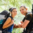 Couple Traveling — Stock Photo