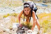 žena horolezectví mountain — Stock fotografie