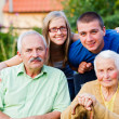 Stock Photo: Family in Residential Care Home