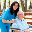 Taking Care of Elder People — Stock Photo
