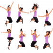Jumping Montage — Stock Photo