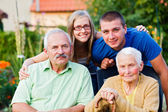 Family in Residential Care Home — Stock Photo