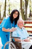 Taking Care of Elder People — Stock Photo