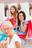 Girlfriends Shopping — Stock Photo