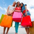 Happy Women After Shopping — Stock Photo
