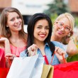 Stock Photo: Girlfriends Gone Shopping
