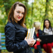 Girl in University Campus — Stock Photo #33364787