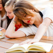 Stock Photo: Girl Had Enough Of Books
