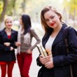 Girls going back to school — Stock Photo