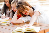 Girl Had Enough Of Books — Stock Photo