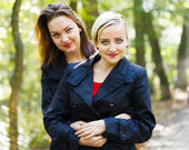 Fraternal Twins - Girls — Stock Photo
