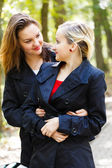 Twin Sisters - Fraternal Twins — Stock Photo
