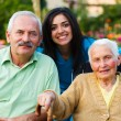 Visiting Senior Patients — Stock Photo