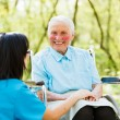 Happy Elderly Patient — Stock Photo