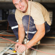 Electrician Man Working — Stock Photo