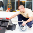 Stock Photo: Service Mwith His Toolbox