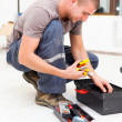Service Man with His Toolbox — Stock Photo