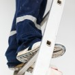 Handyman on Ladder — Stock Photo #34274039