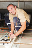 Electrician Man Working — Stockfoto