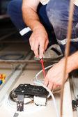 Electrician Man Working — Foto de Stock