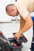 Handyman and His Tool Bag — ストック写真