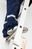 Handyman on Ladder — Stock Photo