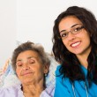 Social care at home — Stock Photo