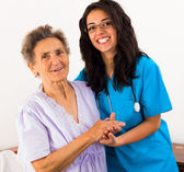 Helpful Nurses with Patients — Stock Photo