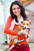 Smiling Woman With Pet — Stock Photo