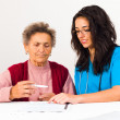 Stock Photo: Contract with nursing home