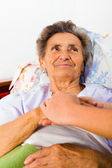 Care love and trust for elders — Stock Photo
