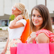Girls out for shopping — Stock Photo #35527511