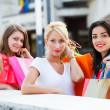 Girls out for a shopping — Stock Photo #35527583