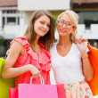 Girlfriends out for shopping — Stock Photo #35527507