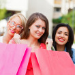 Women with shopping bags — Stock Photo #35527677