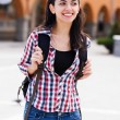Young traveller woman — Stock Photo