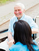 Smiling elderly patient — Stock Photo