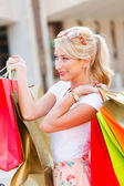 Shopper donna in azienda — Foto Stock