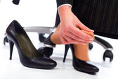 Pain in the feet — Stock Photo