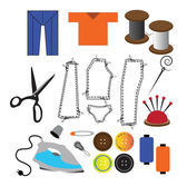 Colorful tailoring icons — Stock Photo