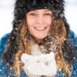 Pretty Winter Lady — Stock Photo